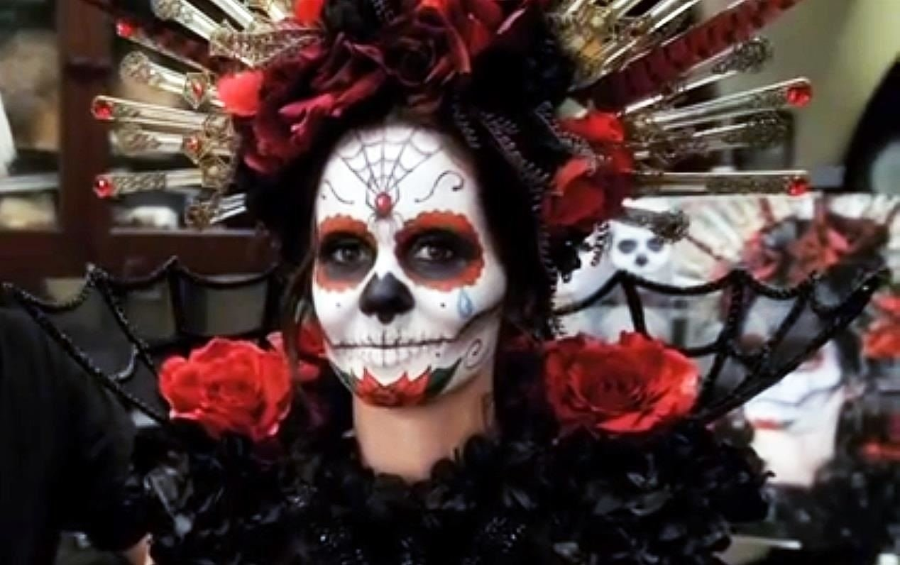 10 Gorgeous Day Of The Dead Ideas day of the dead diy sugar skull halloween look with rick baker 2 2021