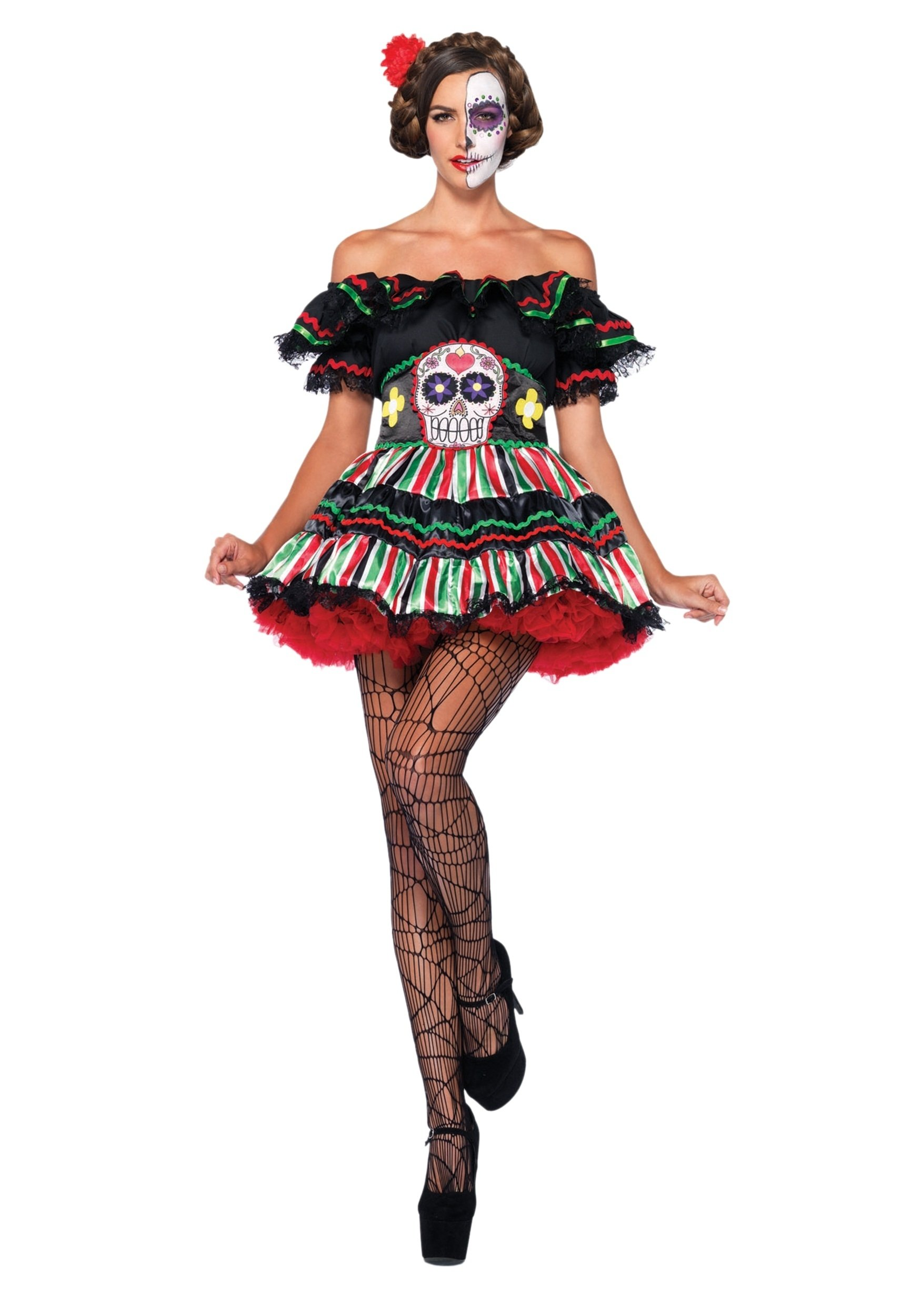 10 Great Day Of The Dead Halloween Costume Ideas day of the dead doll costume 2020