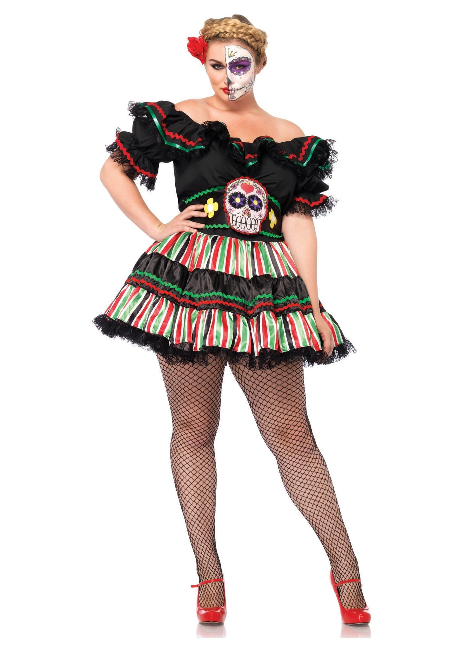 10 Great Day Of The Dead Halloween Costume Ideas day of the dead doll plus size costume 2020