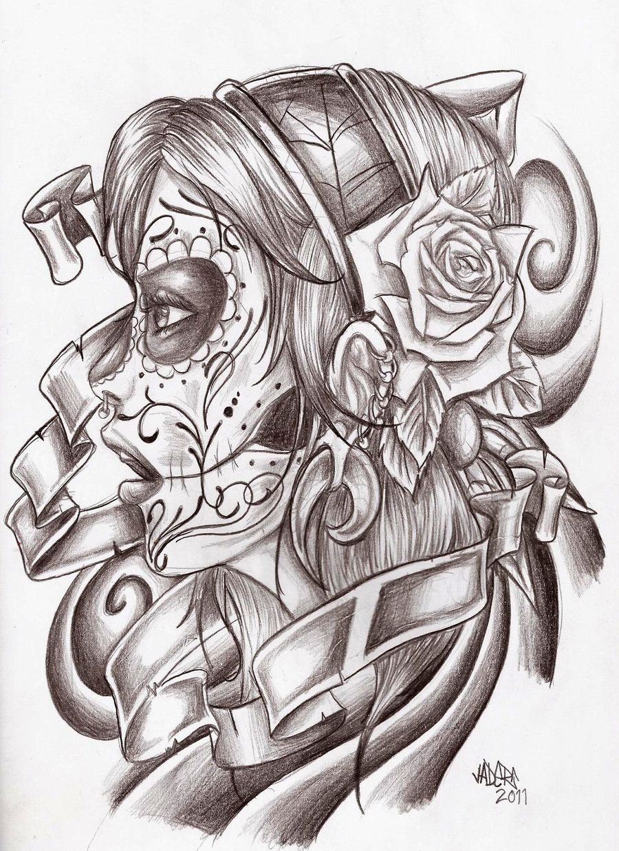 10 Fashionable Day Of The Dead Tattoo Ideas day of the dead drawings google search tattoo ideas pinterest 2021