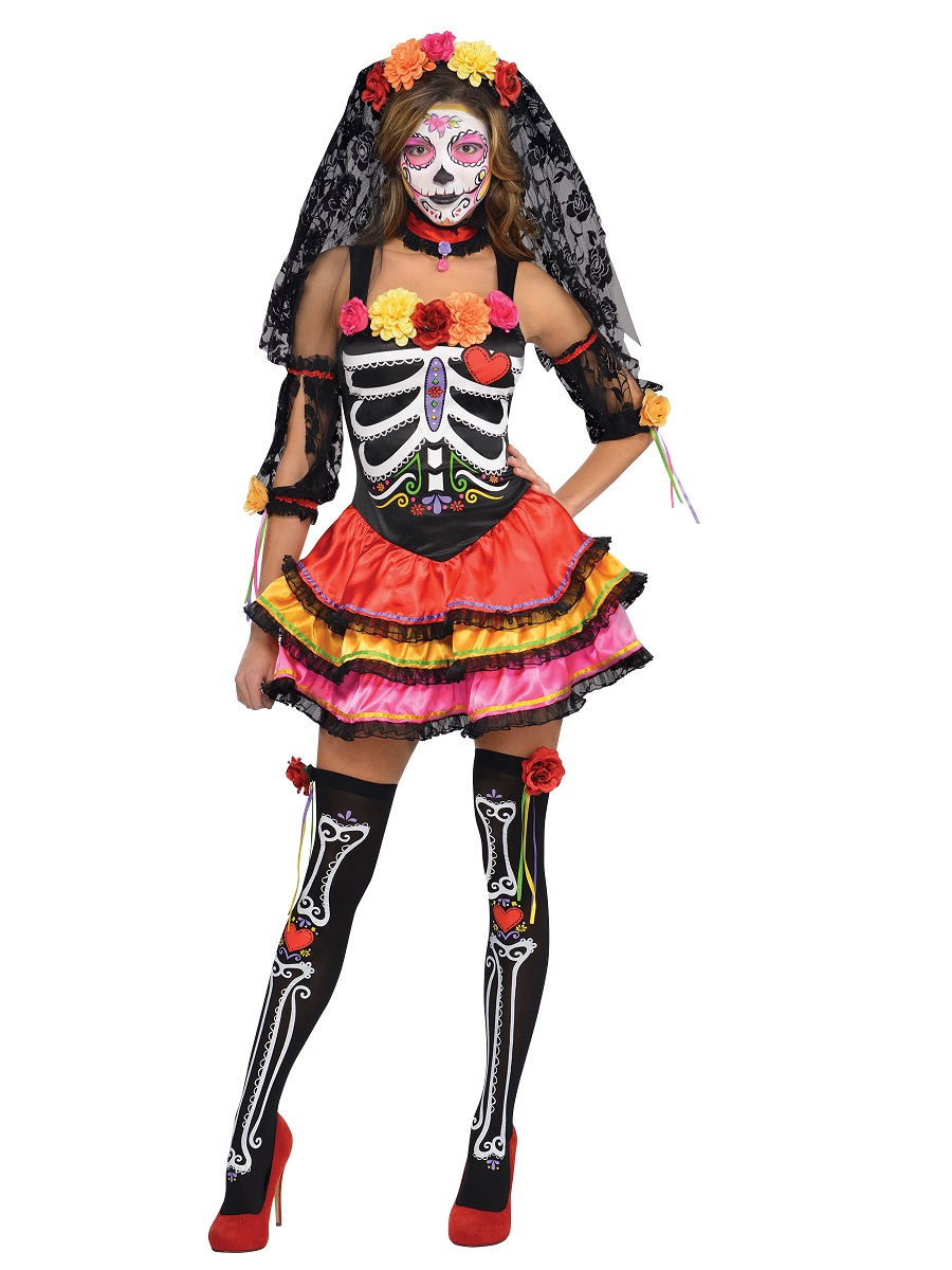 10 Fabulous Day Of The Dead Dress Ideas day of the dead halloween costumes fancy dress ball 1 2020