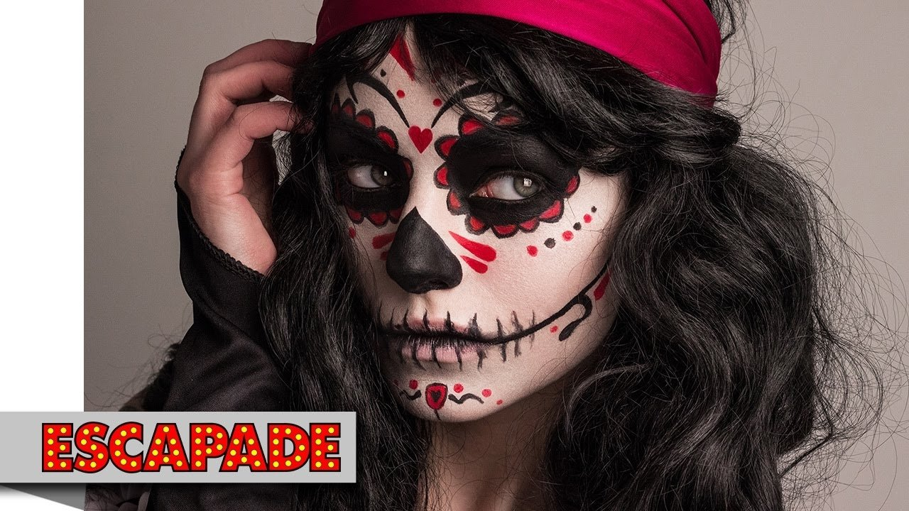 10 Gorgeous Day Of The Dead Ideas day of the dead makeup tutorial halloween makeup ideas youtube 1 2021