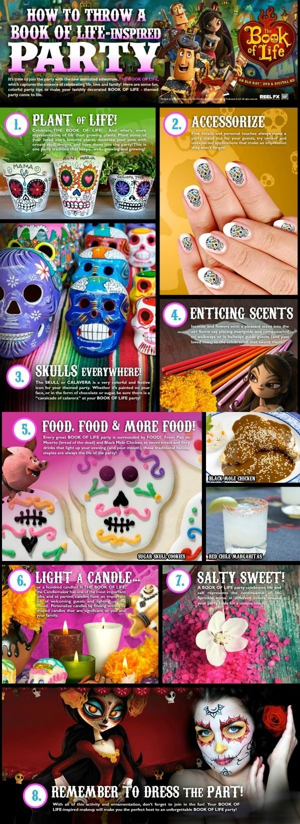 10 Fabulous Day Of The Dead Party Ideas day of the dead party ideas dia de los muertos party pinterest 2021