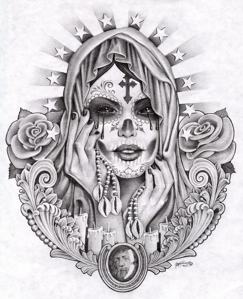 10 Fashionable Day Of The Dead Tattoo Ideas %name 2021