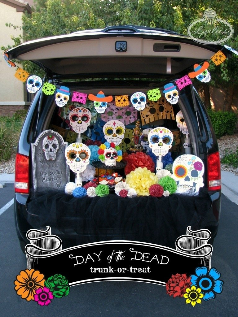 10 Cute Trunk And Treat Ideas For Decorating day of the dead trunk or treat ideas lynlees 4 2020