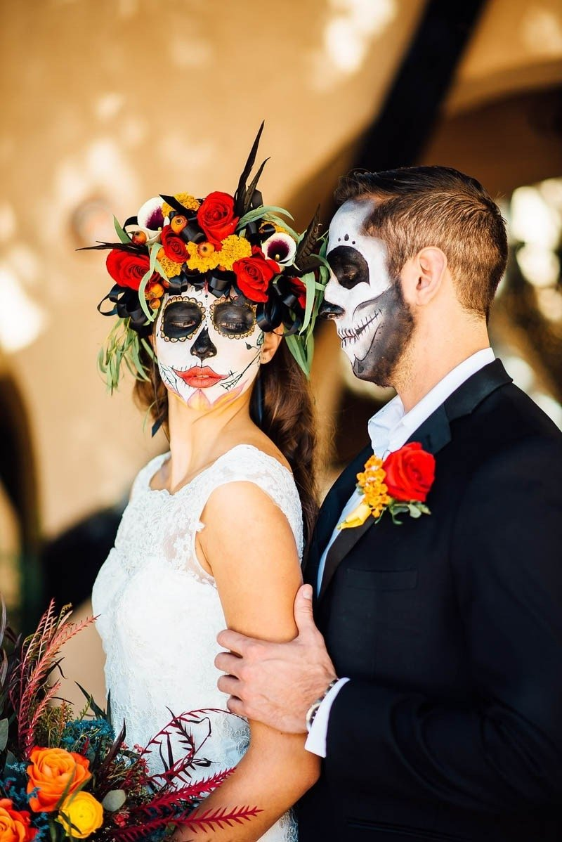 10 Ideal Day Of The Dead Wedding Ideas day of the dead wedding ideas bespoke bride wedding blog 1