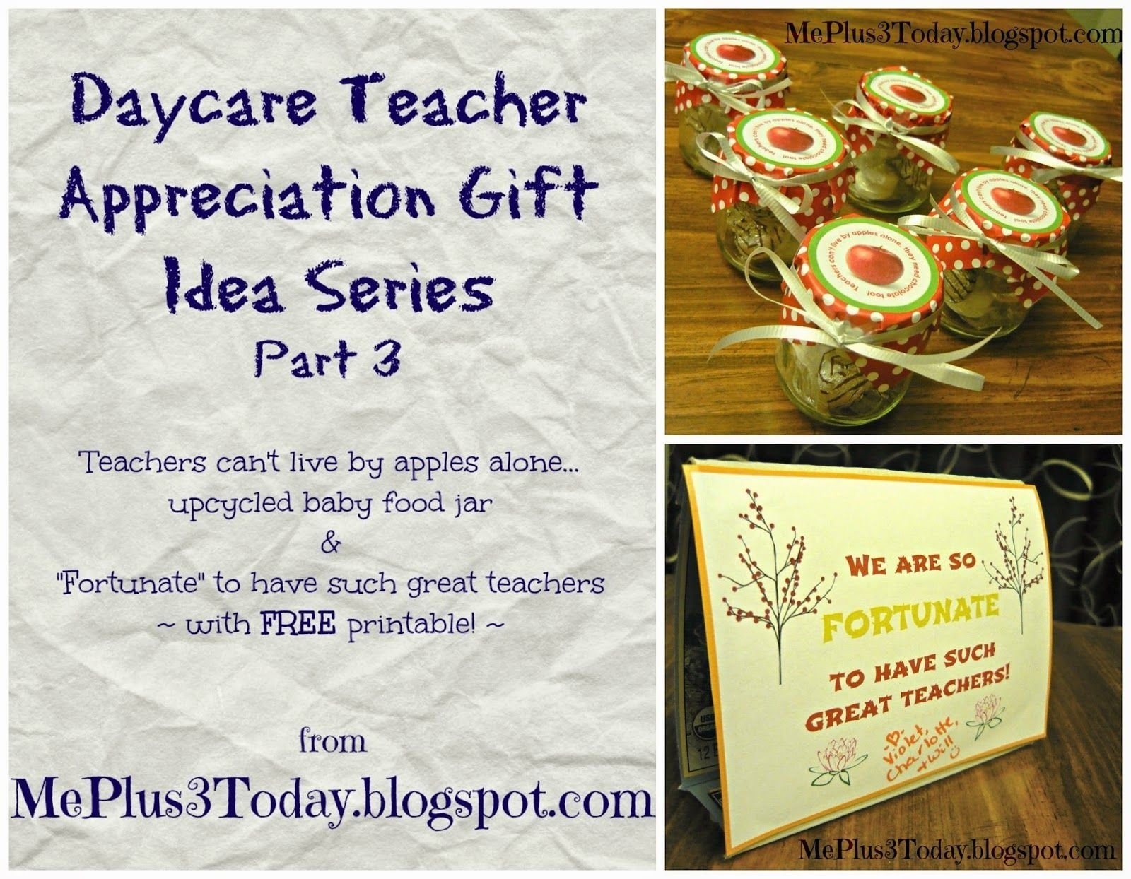 "daycare teacher appreciation gift idea - ""teachers can't live"