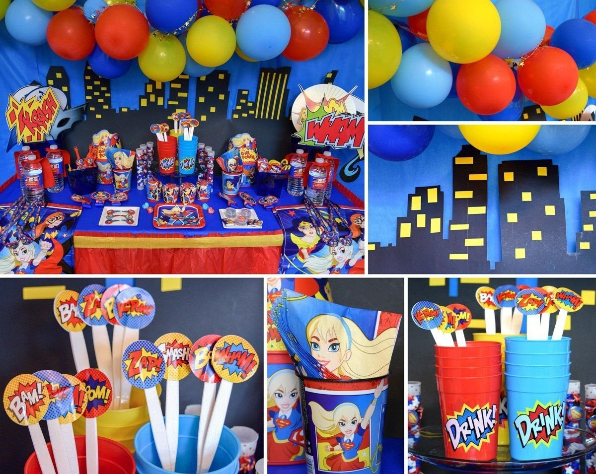 10 Most Recommended Birthday Celebration Ideas In Dc dc superhero girls party decorations wonder woman birthday 2020