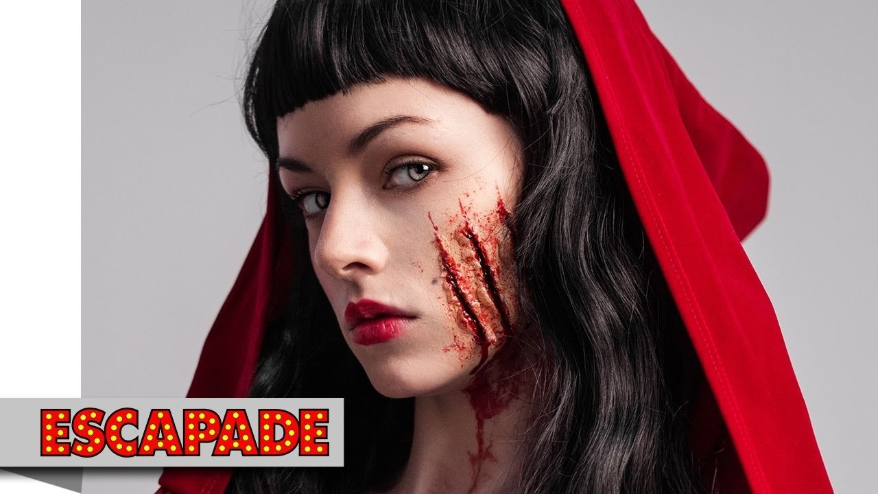 deadly red riding hood makeup tutorial - halloween makeup ideas