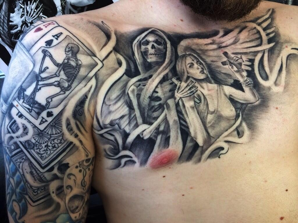 10 Stunning Life And Death Tattoo Ideas death tattoos and designs page 38 2020