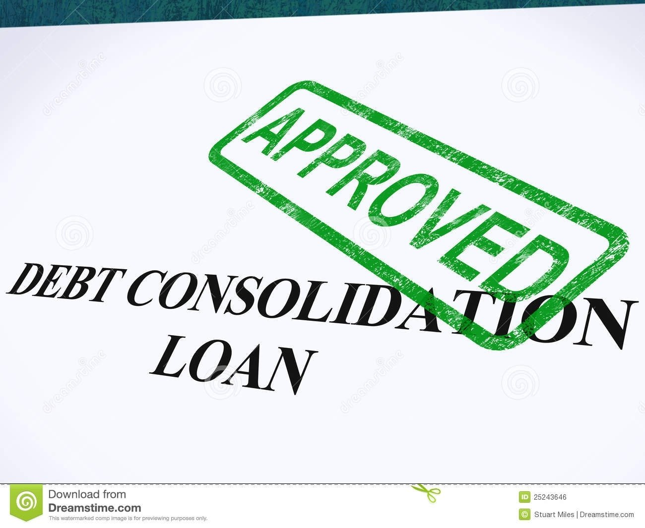 debt consolidation loan approved stock photo - image of borrower