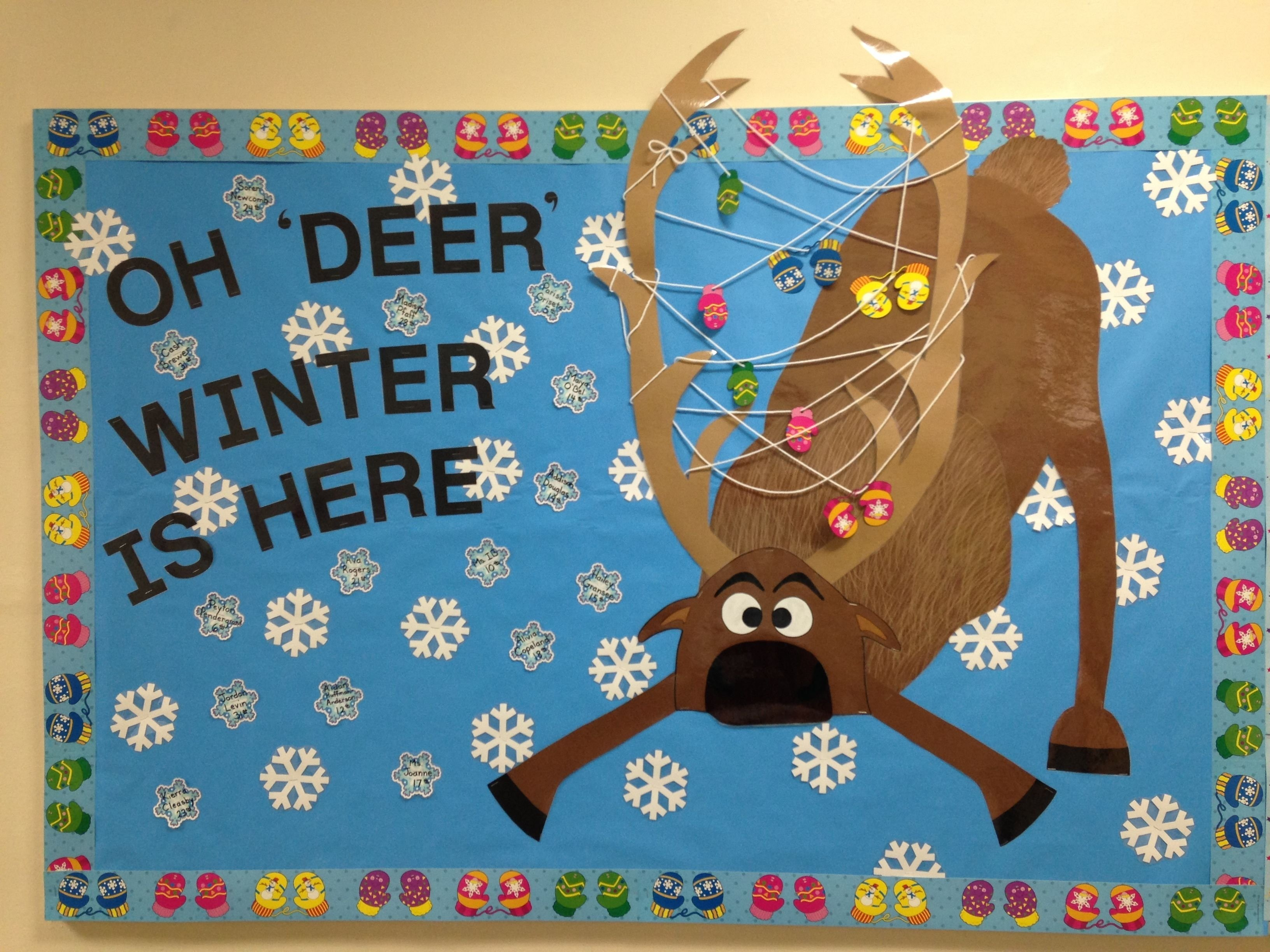 10 Stylish January Bulletin Board Ideas For Teachers december winter bulletin board oh deer winter is here frozens 1 2021