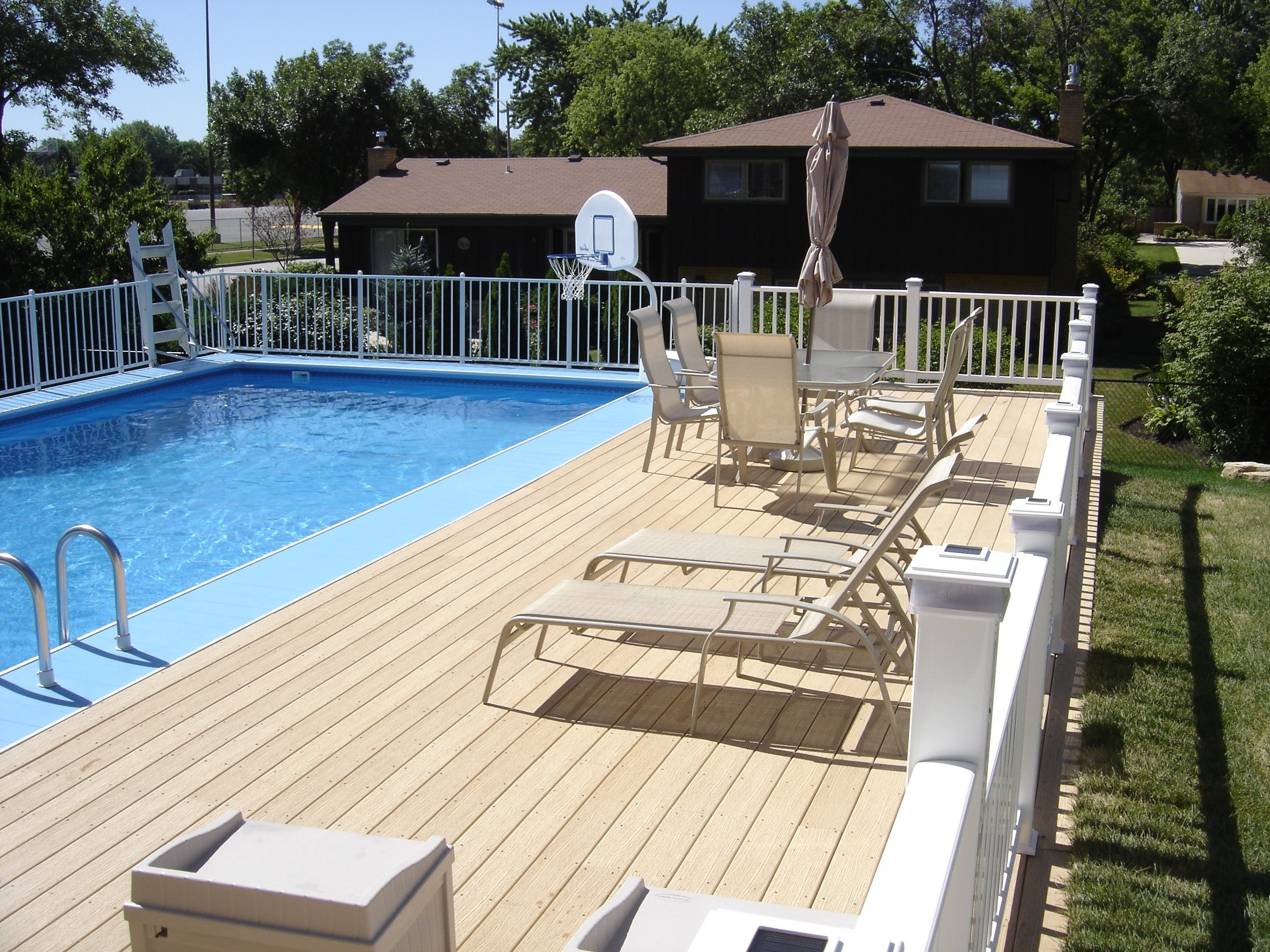 10 Elegant Pool Deck Ideas For Inground Pools deck around above ground pool ideas home decorating and tips loversiq 2021