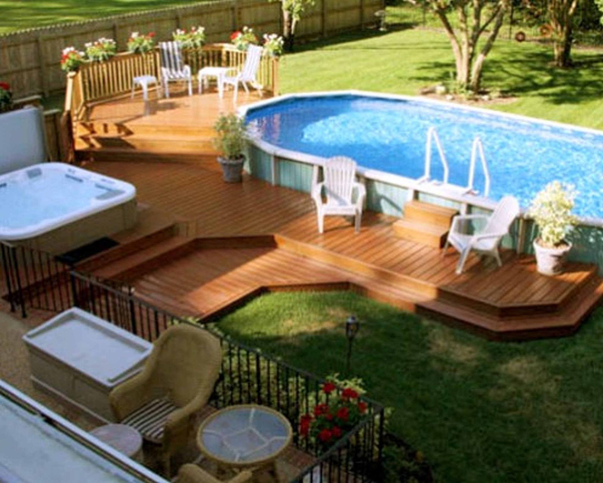 10 Pretty Above Ground Pool Deck Ideas Pictures deck design ideas for above ground pools swimming gallery with pool