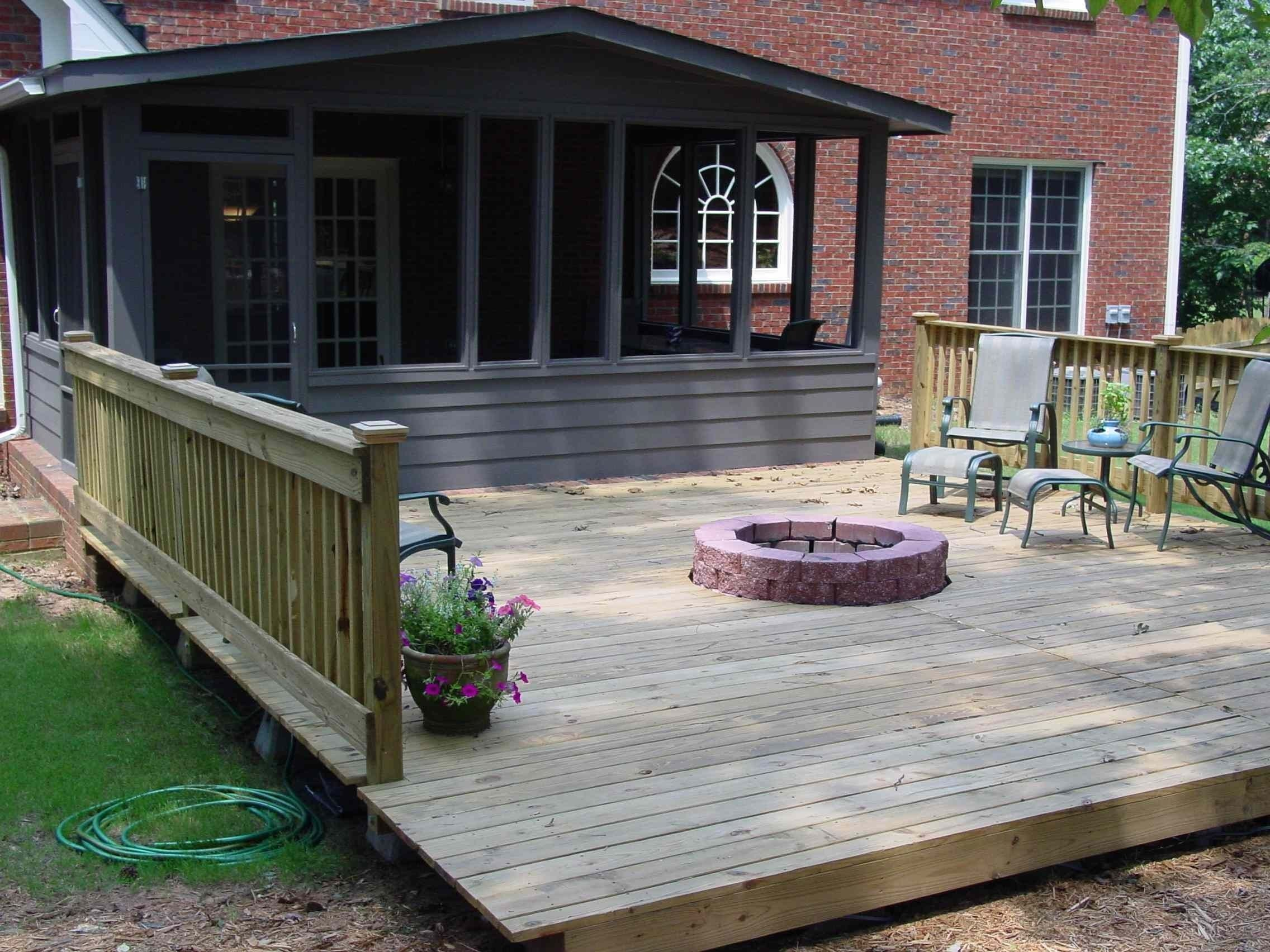 deck with fire pit | quality home remodeling | for the home