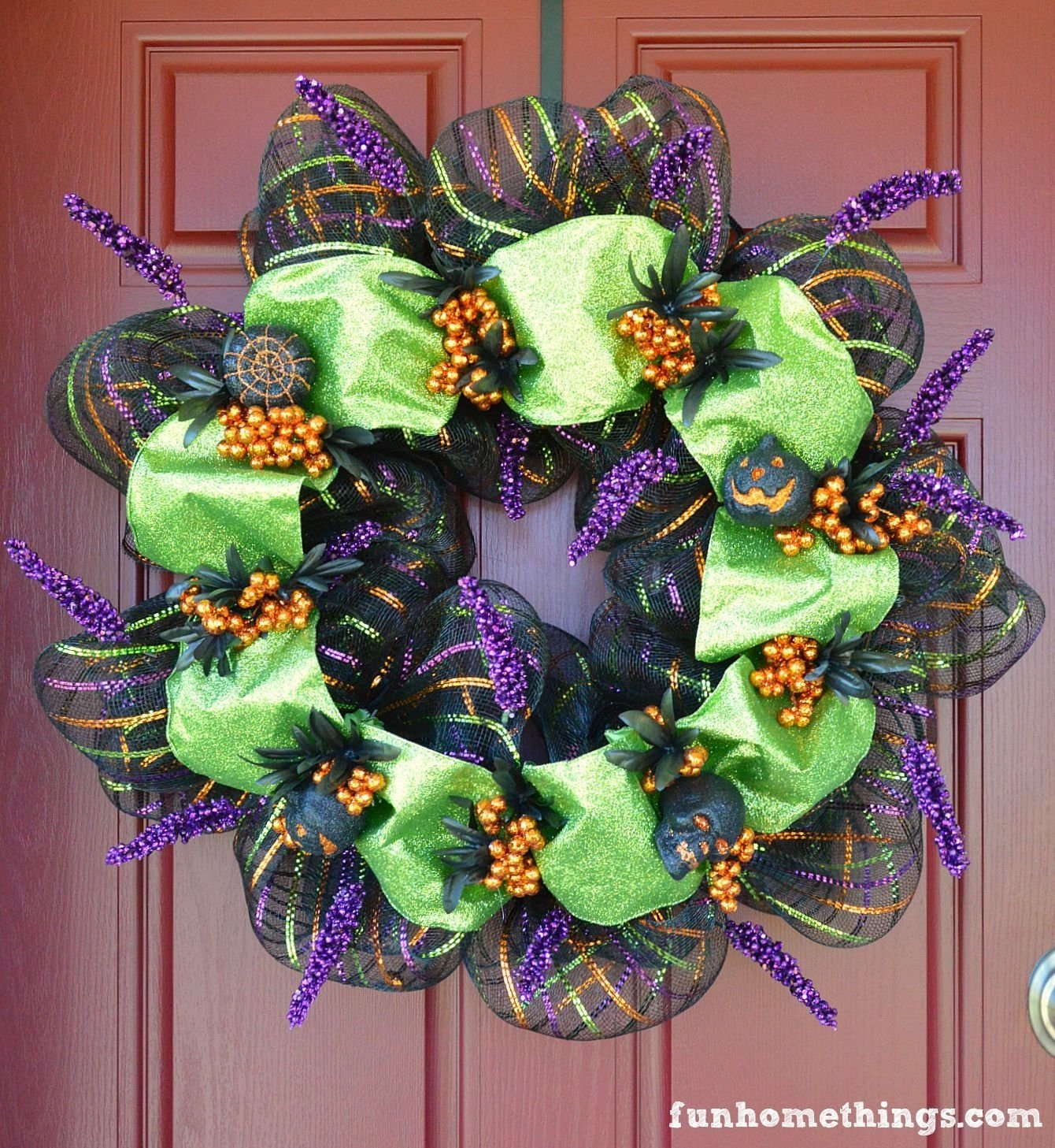 10 Most Recommended Deco Mesh Halloween Wreath Ideas deco mesh halloween wreath fun home things 2021