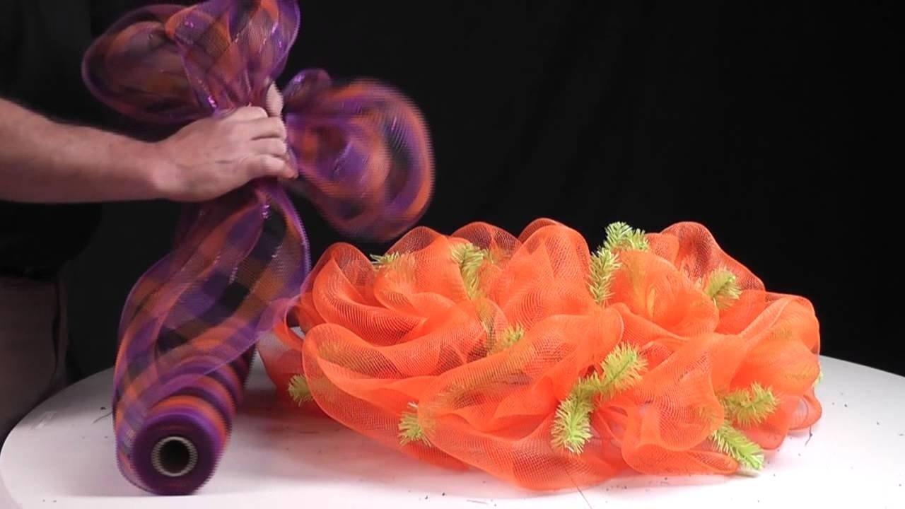 10 Fantastic Fall Wreath Ideas With Deco Mesh deco mesh wreath ideas video youtube