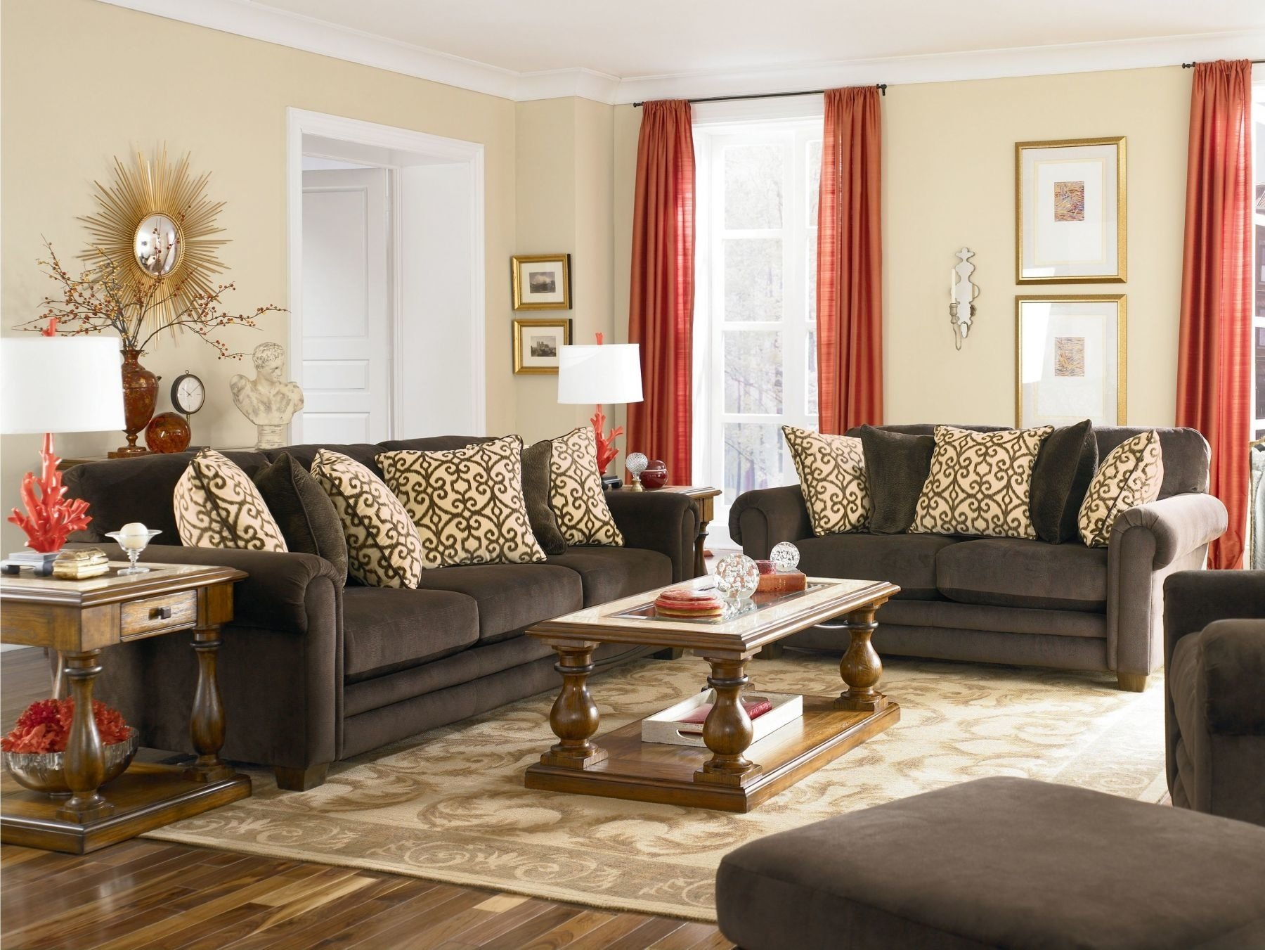 10 Best Red And Brown Living Room Ideas decor brown to inspiration and red living room ideas fascinating 2020