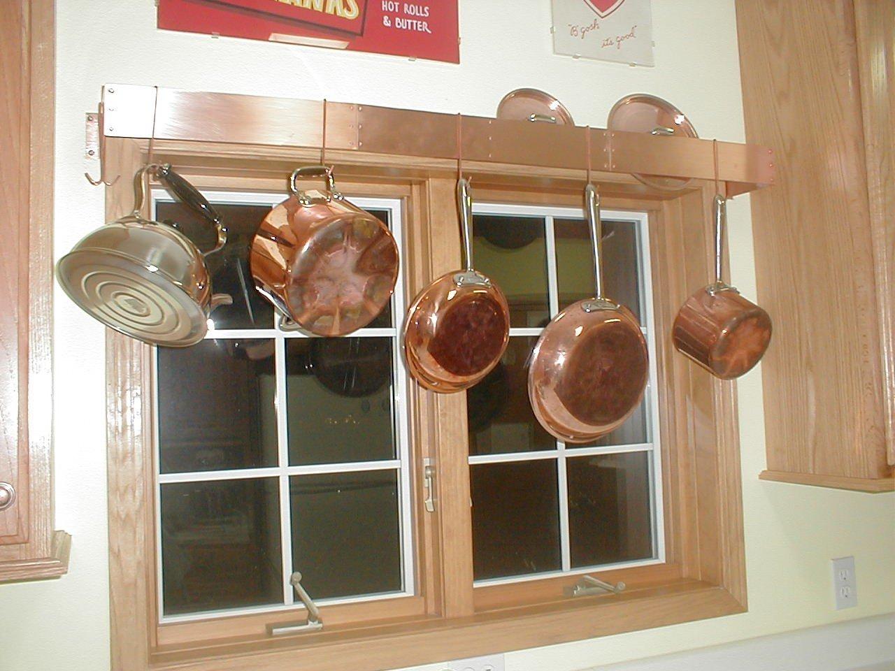 10 Spectacular Wall Mount Pot Rack Ideas decor copper wall mount pot rack for charming kitchen furniture ideas 2020