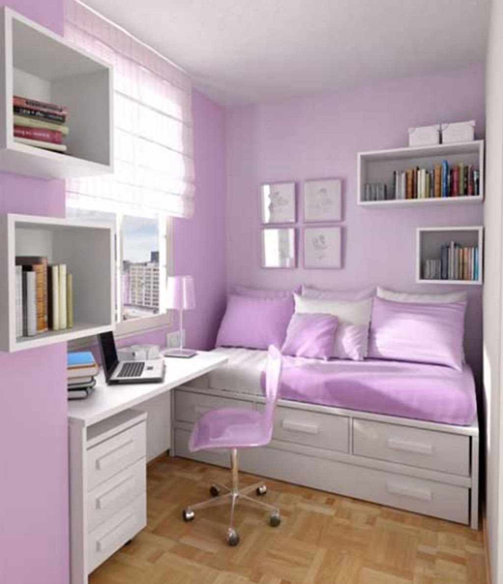 10 Stylish Small Bedroom Ideas For Girls decor for teenage bedrooms pinterest girls light purple walls and 1 2020