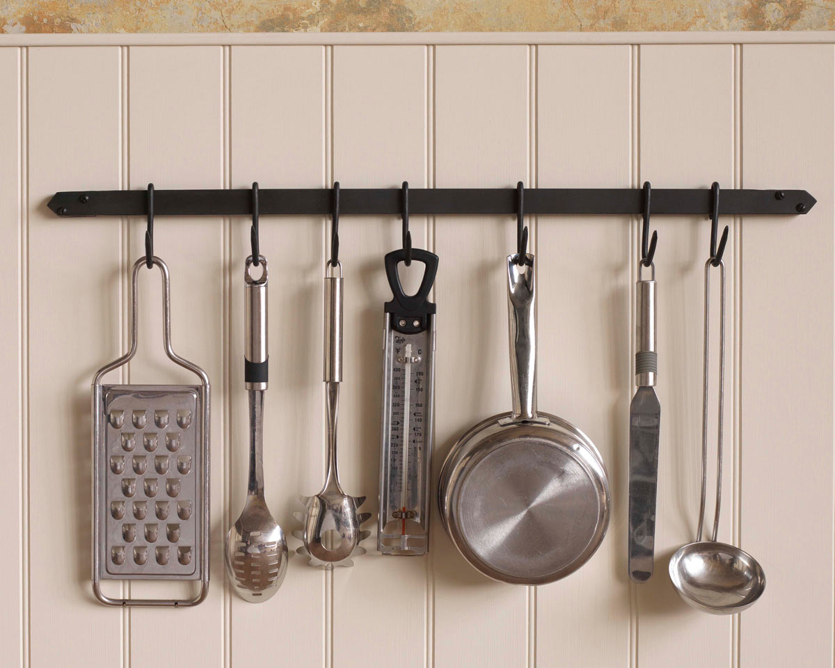 10 Spectacular Wall Mount Pot Rack Ideas decor hawthorn wall mount pot rack with 7 hooks in black for