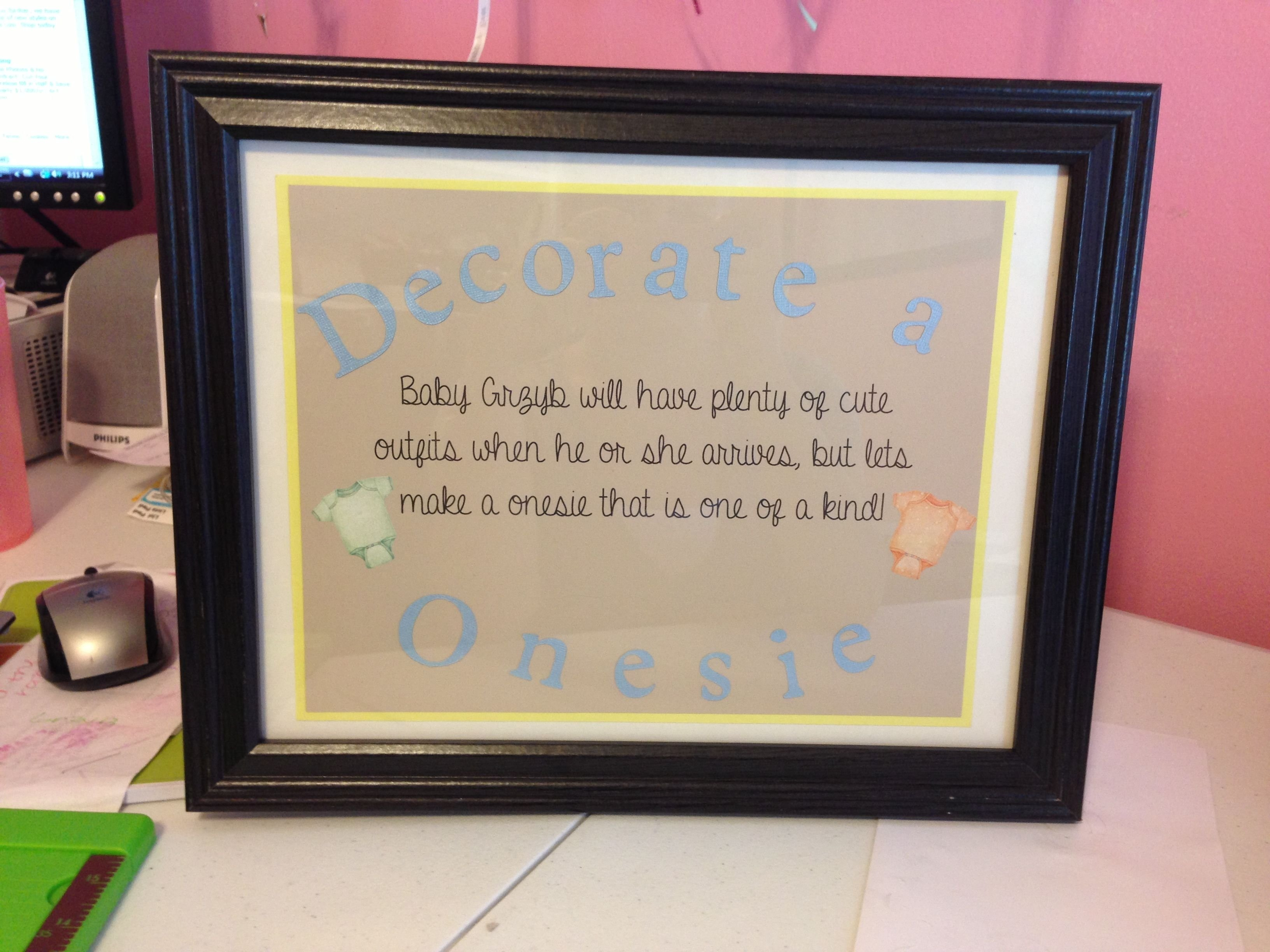 10 Gorgeous Baby Shower Sign In Ideas decorate a onesie for sprinkle shower sign baby sprinkle 2020