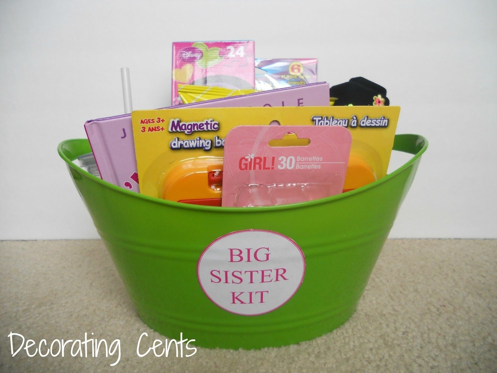 10 Nice Gift Ideas For Little Sister decorating cents big sister kit anticipation pregrancy 2