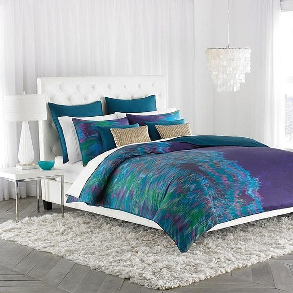 10 Attractive Blue And Green Bedroom Ideas decorating the bedroom with green blue and purple 2021