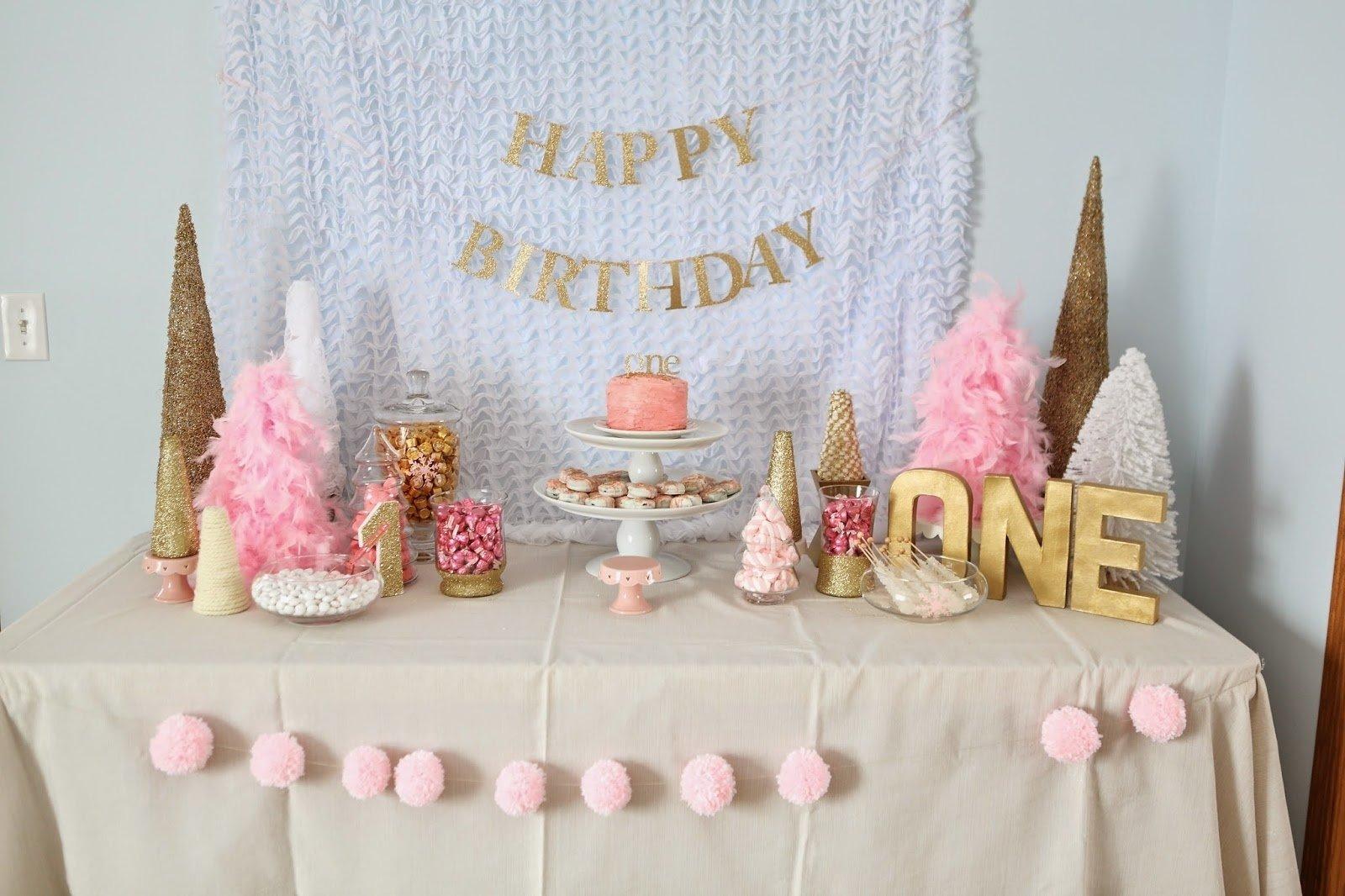 10 Great Winter Wonderland Birthday Party Ideas decorating the dorchester way pink and gold winter wonderland first 2021