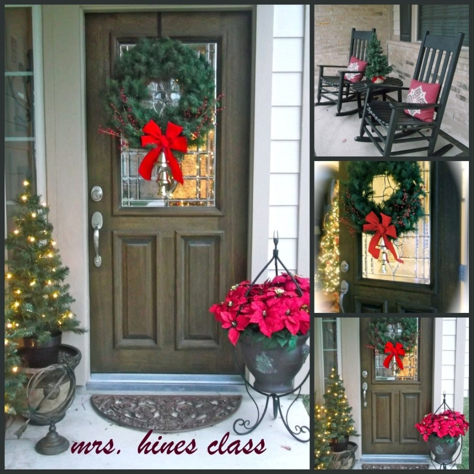 10 Lovable Christmas Front Porch Decorating Ideas decoration cool picture of christmas front porch decoration ideas 2020