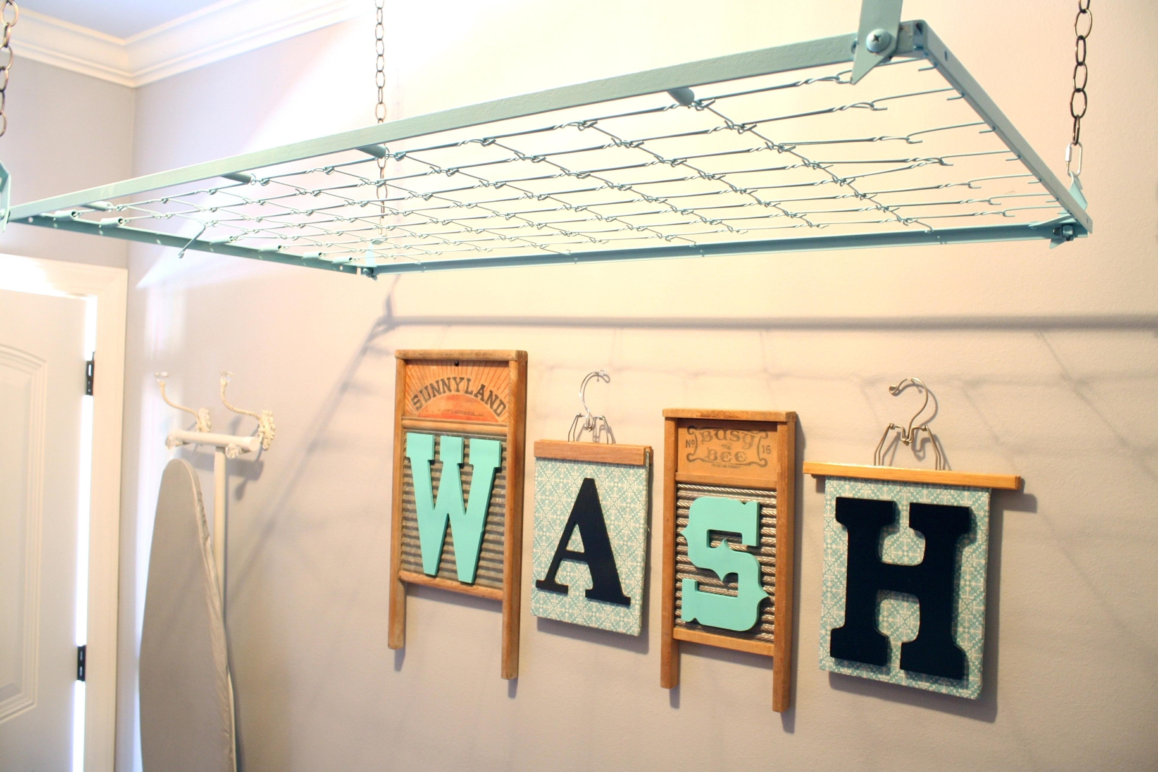 10 Ideal Laundry Room Drying Rack Ideas decoration laundry room hanging rack about clothes drying racks