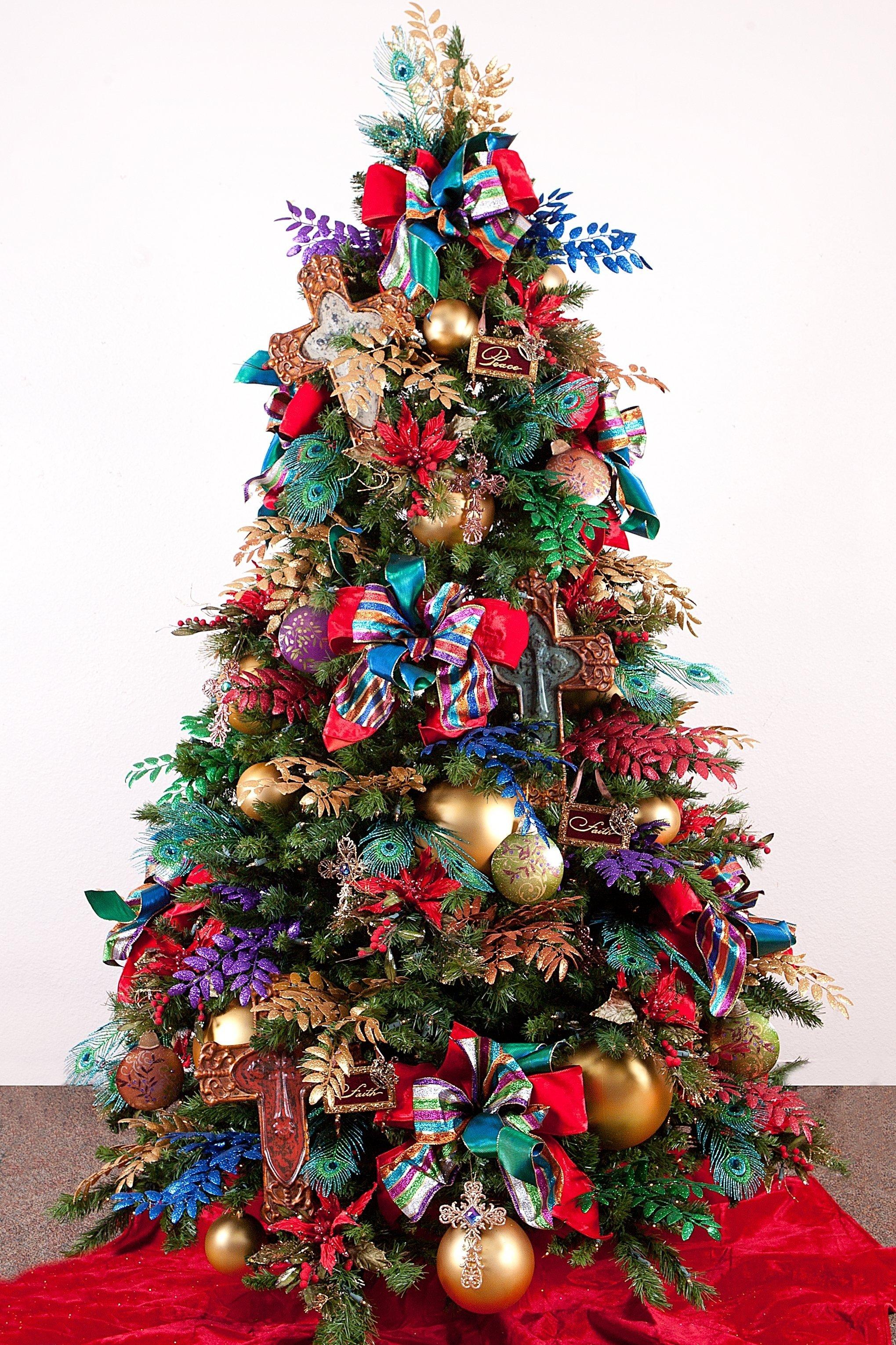 10 Spectacular Christmas Tree Decorating Ideas With Ribbon decorations christmas lights decorations amazing christmas tree 2021
