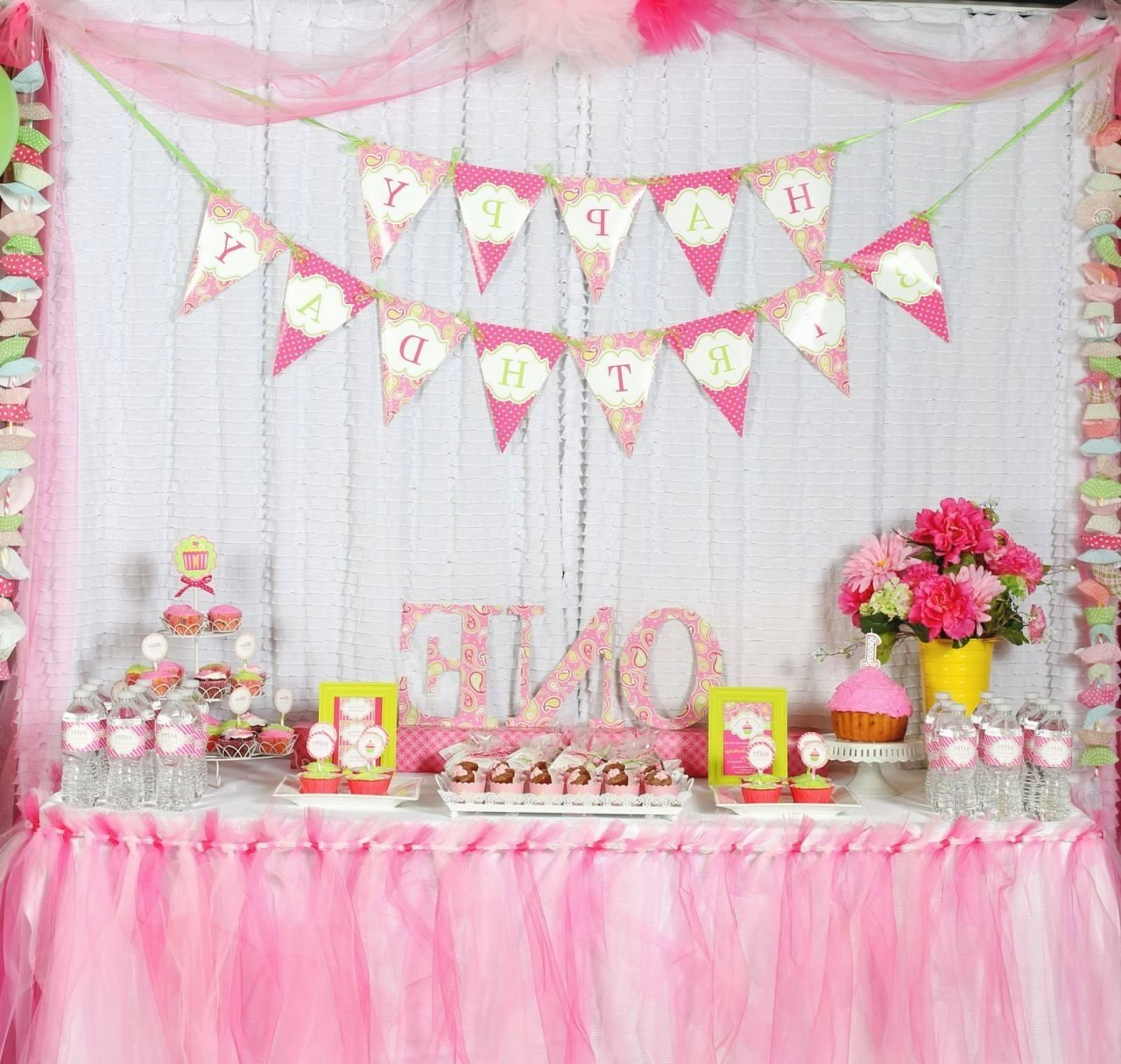 10 Fantastic First Birthday Party Decoration Ideas Decorations For Baby Girl 1st Decorating Of