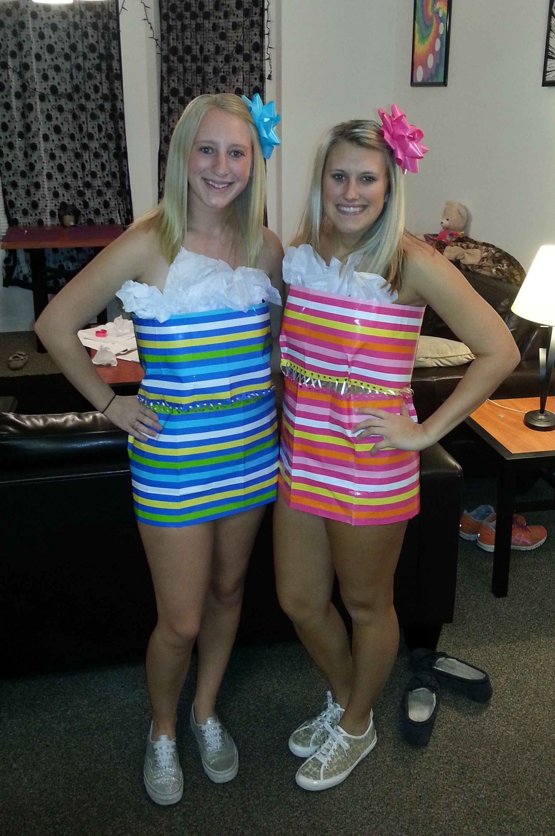 10 Unique Anything But Clothes Party Costume Ideas definitely classier but great idea for an abc party favorite 1