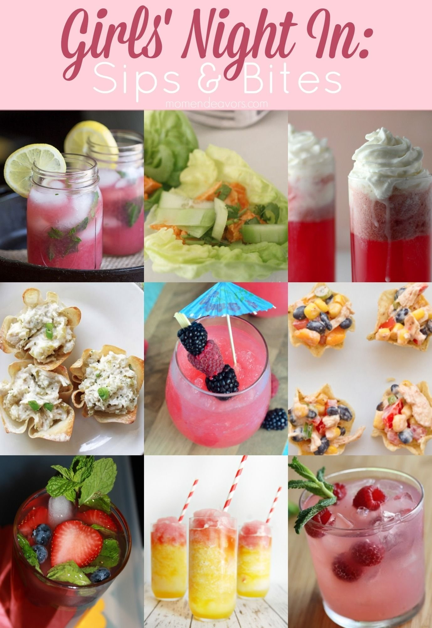 10 Best Ideas For Girls Night In delicious recipes for a girls night in girls night food and girls 2020