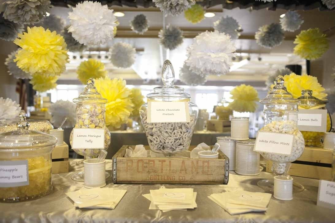 10 Cute Yellow And Gray Wedding Ideas delightful accessories for yellow dining table design using flower
