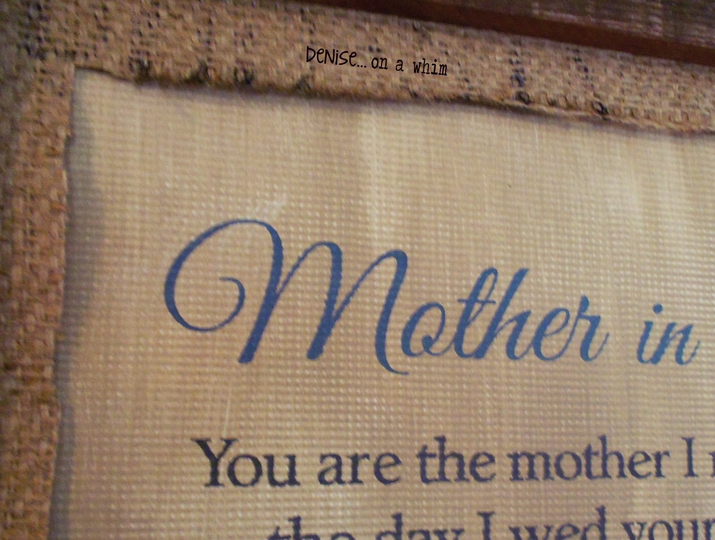 deniseon a whim: a custom mother's day gift