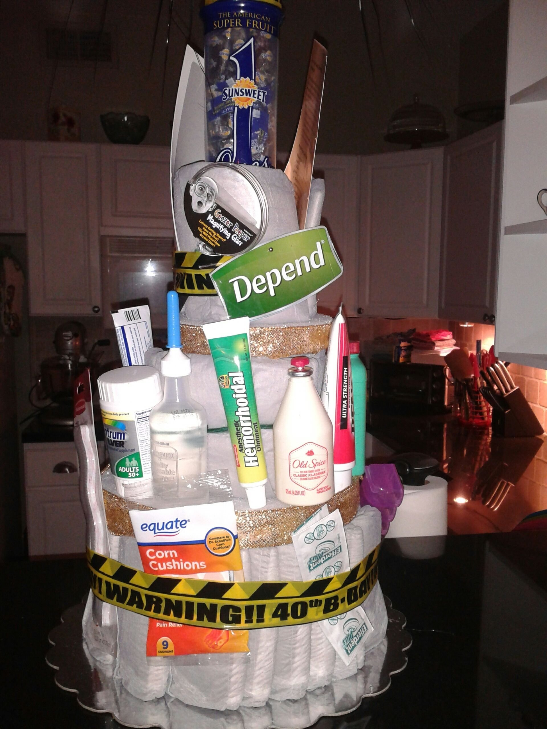 depends cake - gag gift, 40th birthday, but will also work for 50th