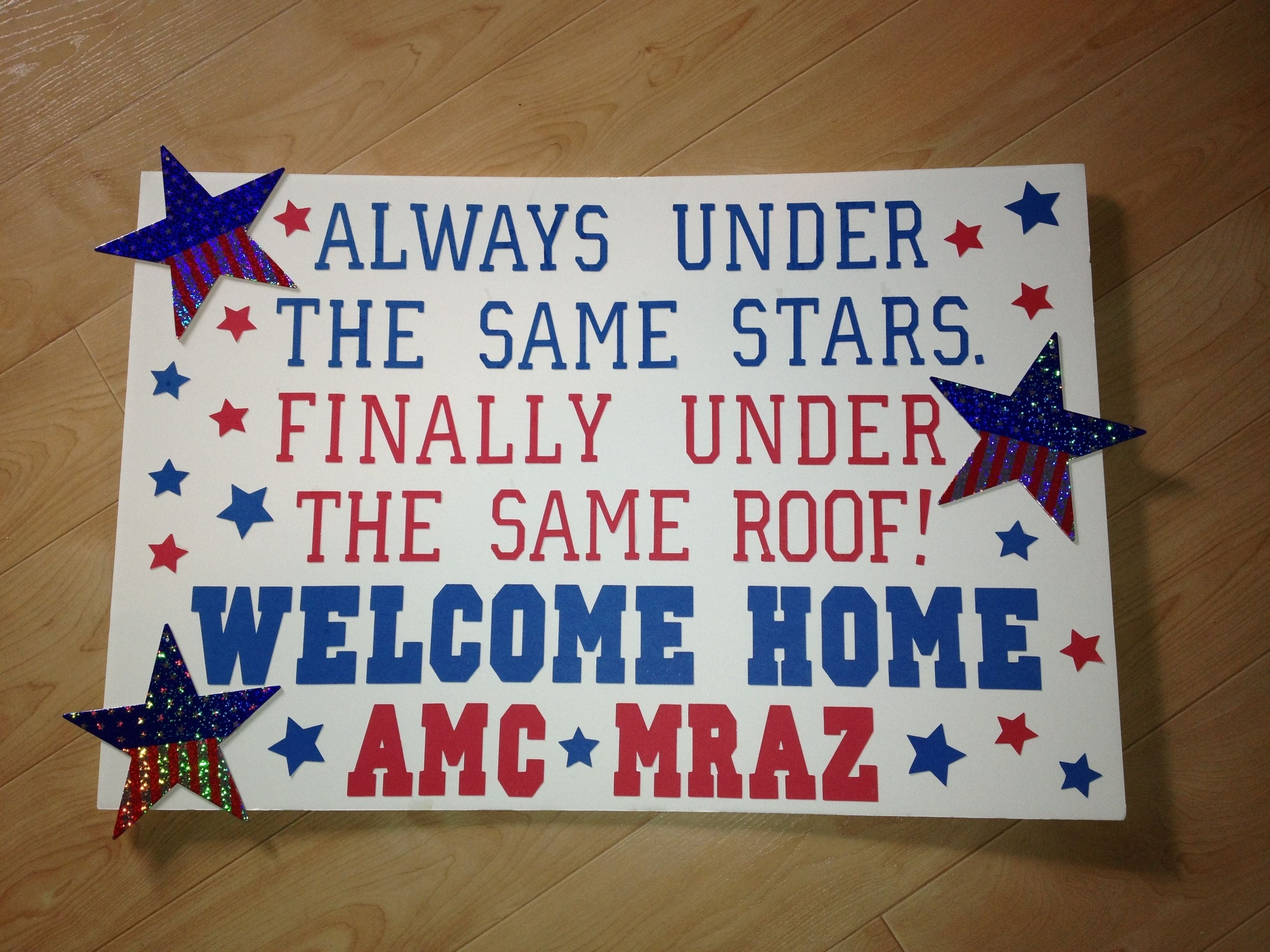 10 Most Recommended Military Welcome Home Sign Ideas deployment homecoming poster ideaexcept way more cute than this 2020