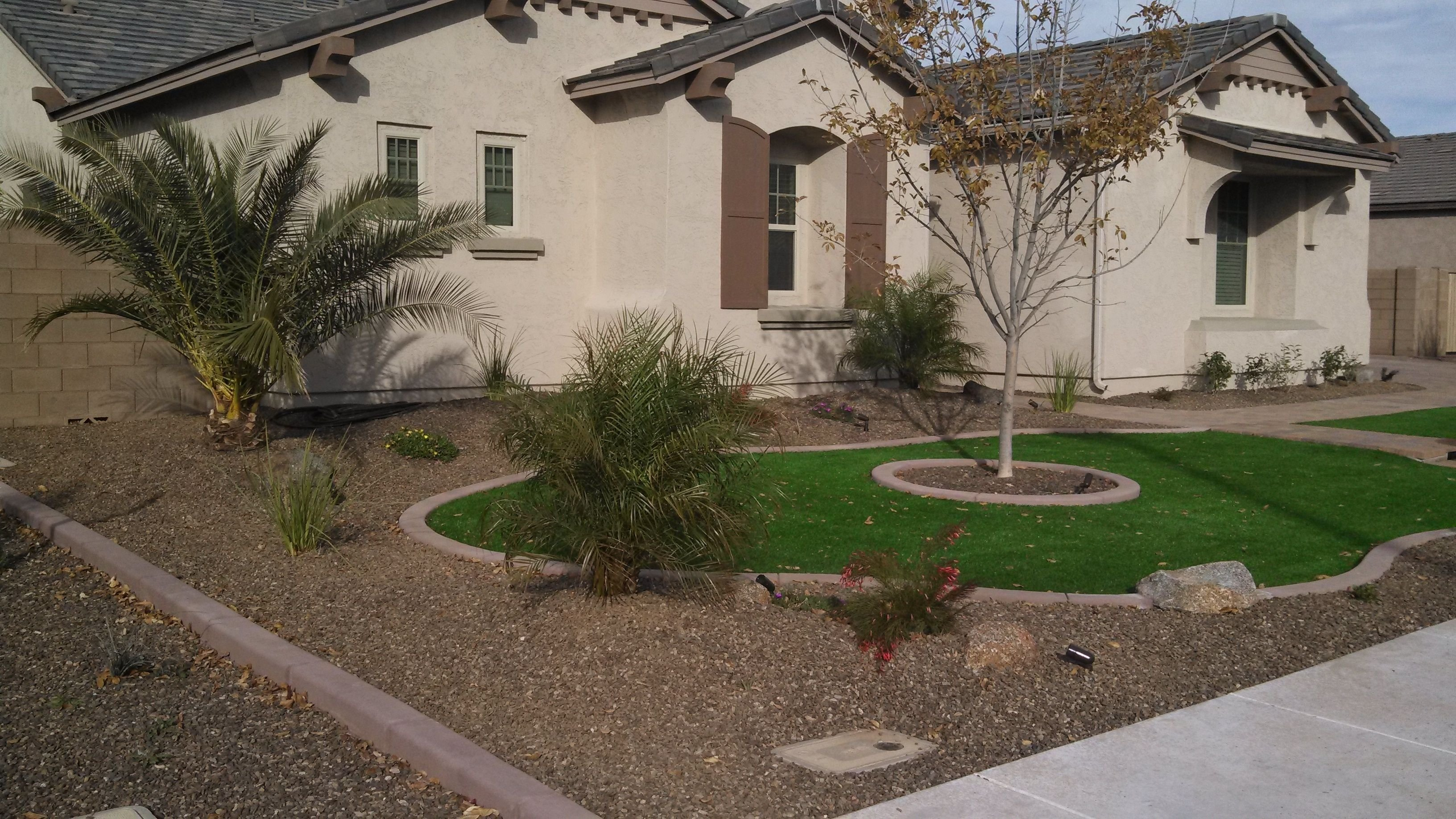 10 Most Popular Desert Landscaping Ideas For Front Yard desert landscaping ideas with pavers and artificial turf synthetic 2021
