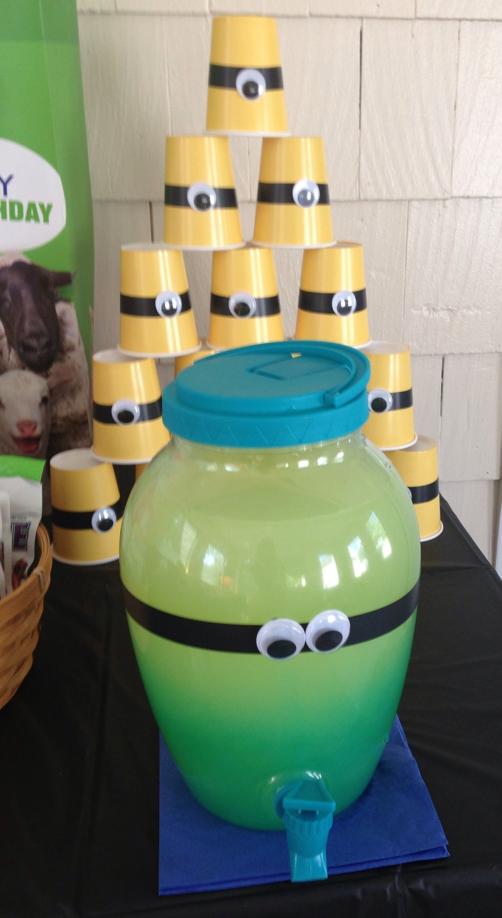 10 Attractive Despicable Me 2 Party Ideas despicable me party drinks kennas minion party pinterest 2020