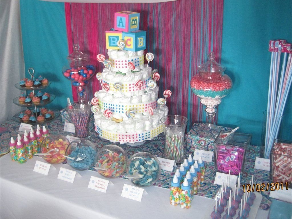 10 Pretty Candy Table Ideas For Baby Shower dessert table melissas baby shower dessert table baby shower