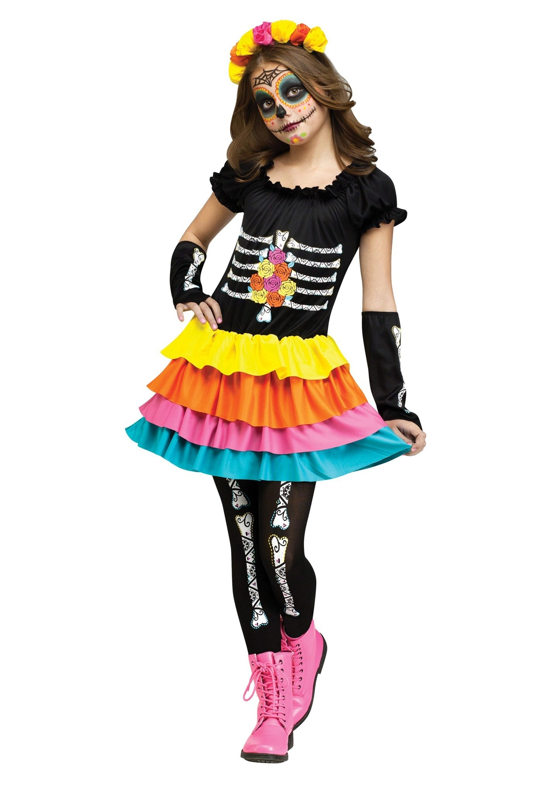 10 Great Day Of The Dead Halloween Costume Ideas dia de los muertos child costume 2020