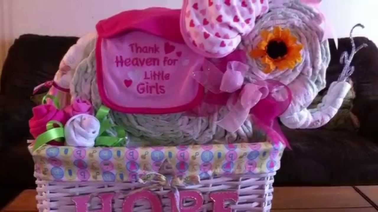 10 Awesome Diaper Cake Ideas For A Girl diaper cake ideas different diaper cakes that i have made youtube 2020