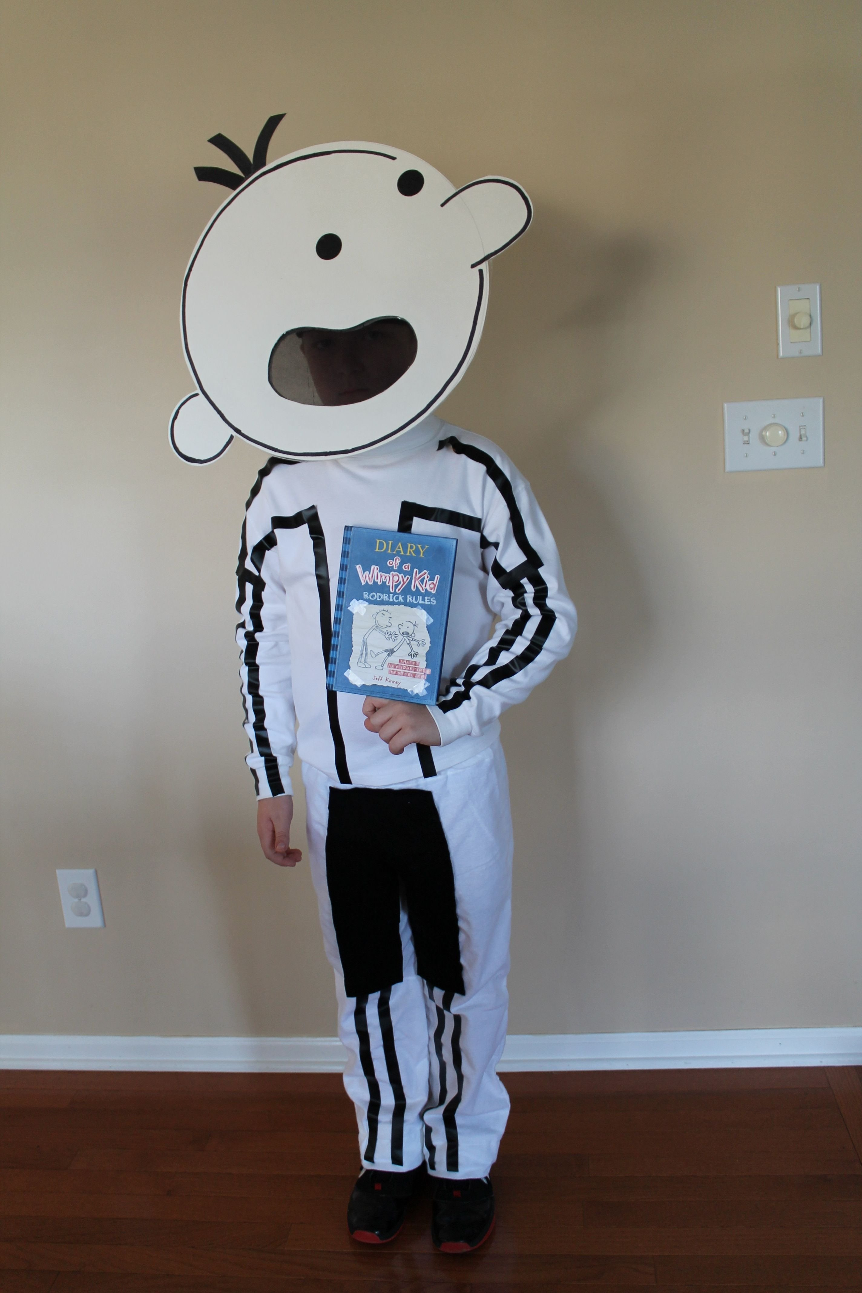 10 Gorgeous Diary Of A Wimpy Kid Costume Ideas diary of a wimpy kid halloween costume electrical tape and a tag 2020