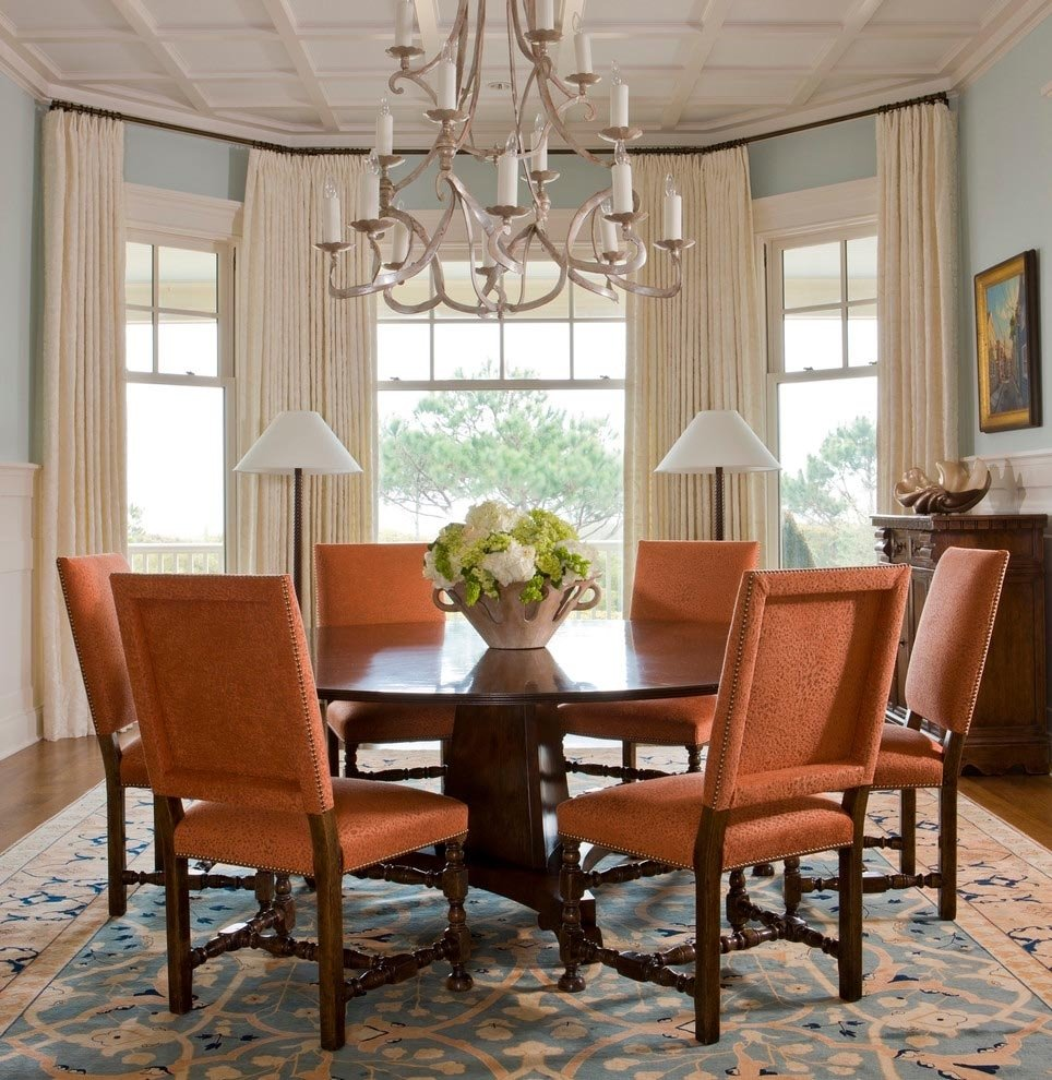 10 Unique Dining Room Window Treatment Ideas dining room bay window treatments window treatments design ideas 2021