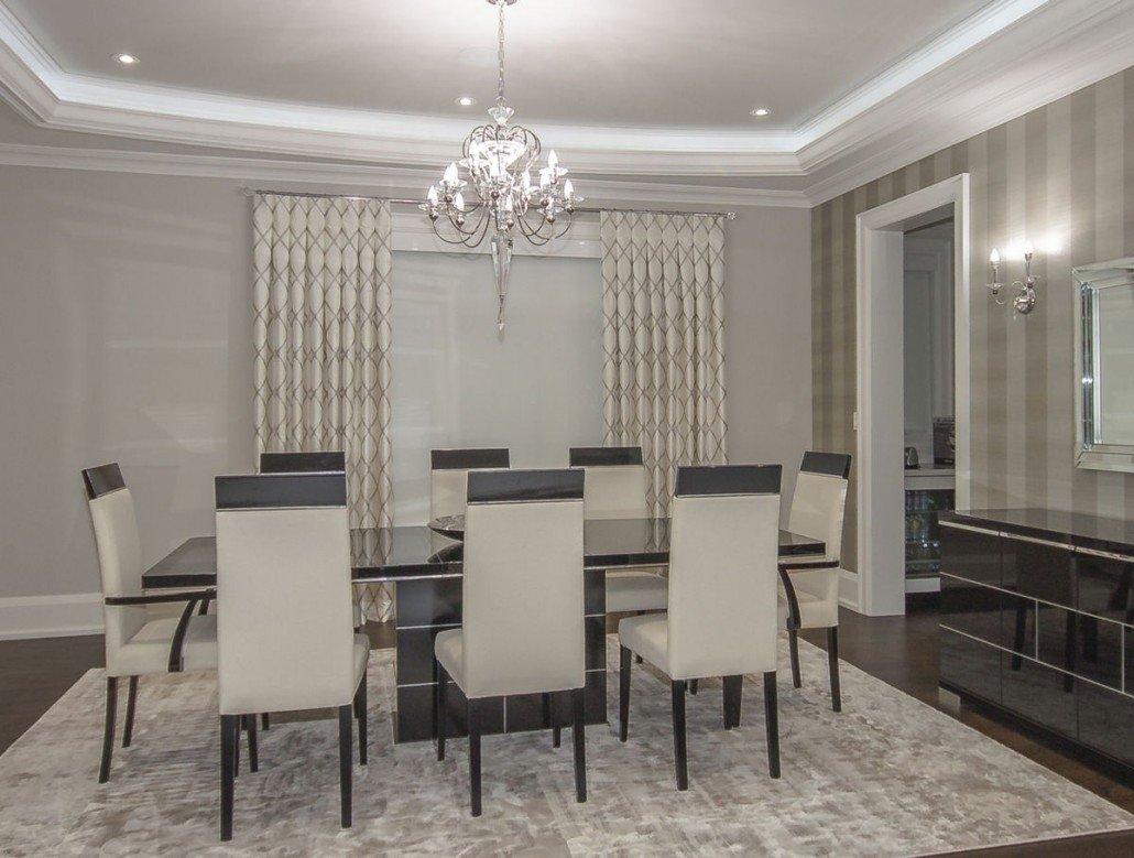 dining room window coverings | custom curtains | elegantdrapery.ca