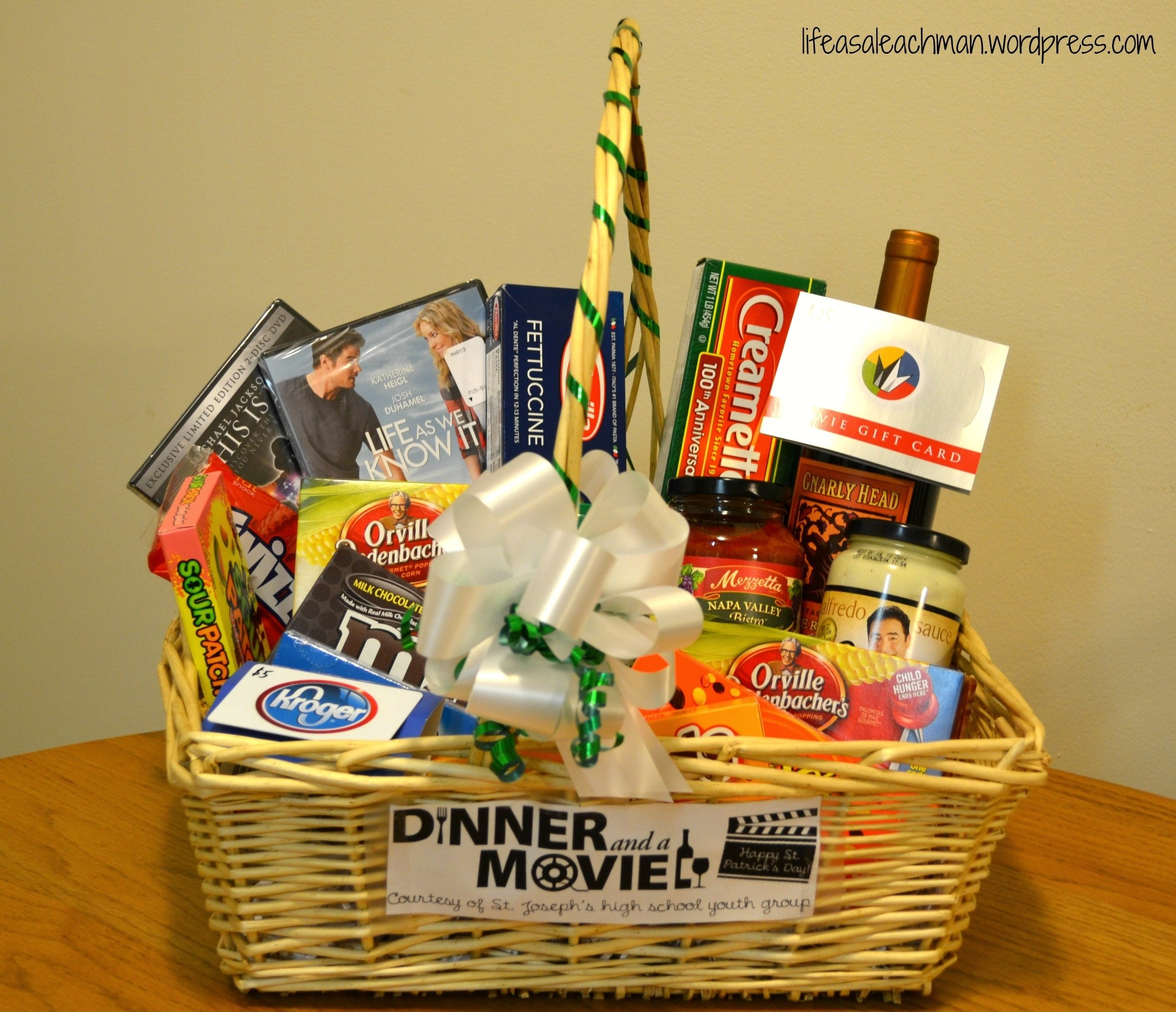 10 Trendy Gift Basket Ideas For Couples dinner a movie gift basket life as a leachman 2020