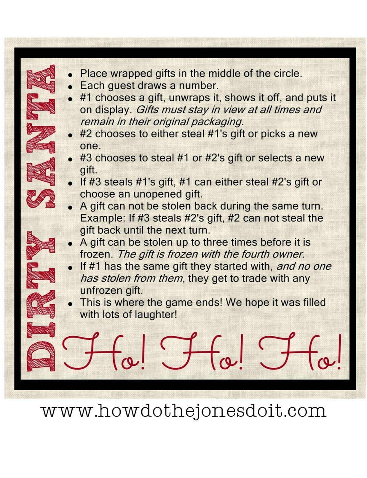 10 Lovely Funny Christmas Gift Exchange Ideas dirty santa gift exchange how do the jones do it