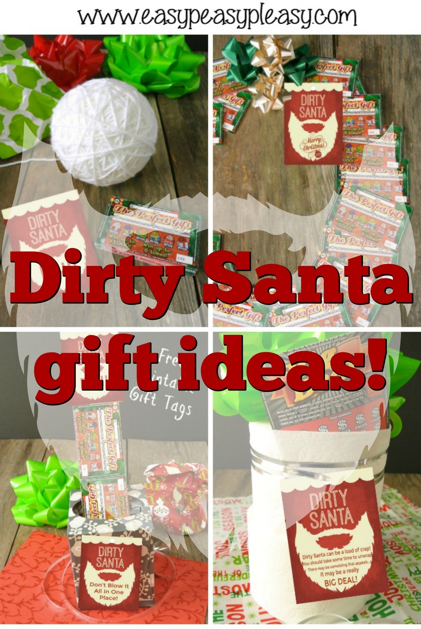 dirty santa + lottery tickets = the perfect gift - easy peasy pleasy